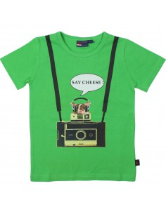 Dutch Heroes: T-Shirt korte mouw Say Cheese fris groen