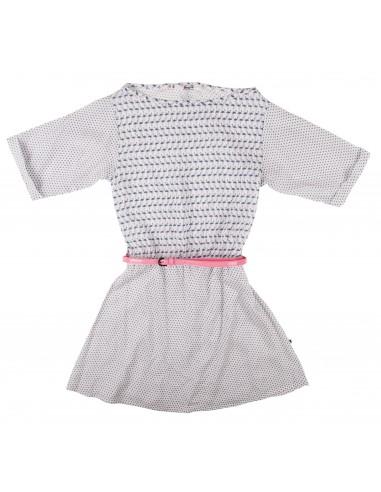Rumbl!: jurk met korte mouw en zwart/wit patroon