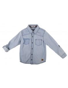 Rumbl!: Overhemd met knoopjes in spijkerlook