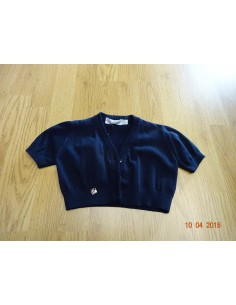 Ruba Cuori: blauwe bolero korte mouw Coprispalle tricot bimba