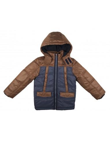 Rumbl!: Blauw/Bruin gewatteerde winterjas voor jongens