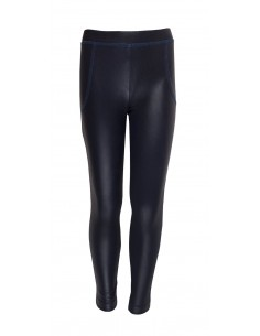 Rumbl!: Leather look legging met blauwe naden