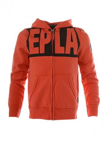 REPLAY: fleece vest met capuchon