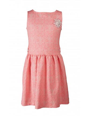 Rumbl!: jurk zalmroze met broche