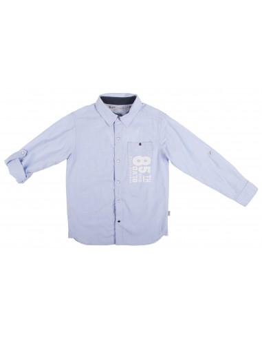 Rumbl!: Overhemd met knoopsluiting en lange mouw in een poplin.
