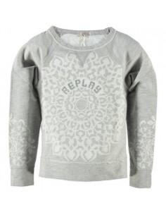 Replay: sweatshirt met kanten achterzijde